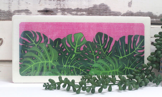 Plants on Pink - Monstera