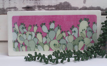 Plants on Pink - Prickly Pear