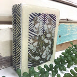 Mini Woodblock - Silver Dollar + Wild Leaves