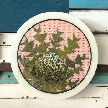 Roundy Woodblock - Bird's Nest Banksia