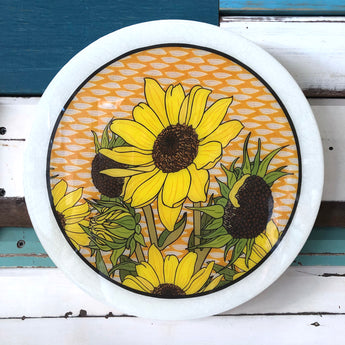 Roundy Woodblock - Sunflower
