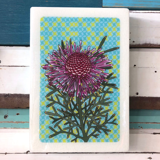 XL Woodblock - Rose Coneflower