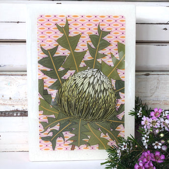 Maxi Woodblock - Bird's Nest Banksia