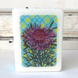 Mini Woodblock - Rose Coneflower