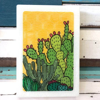 Maxi Woodblock - Cactus Sunrise