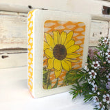 Mini Woodblock - Sunflower