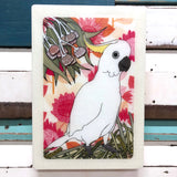 Maxi Woodblock - Sulphur Crested Cockatoo