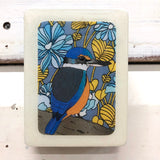 Mini Woodblock - Sacred Kingfisher