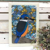 Maxi Woodblock - Sacred Kingfisher