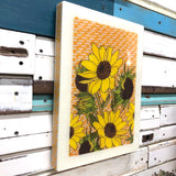 XL Woodblock - Sunflower