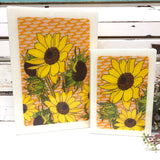Maxi Woodblock - Sunflower