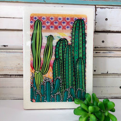 Maxi Woodblock - Cactus Sunset