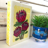 Medi Woodblock - Protea Bloom
