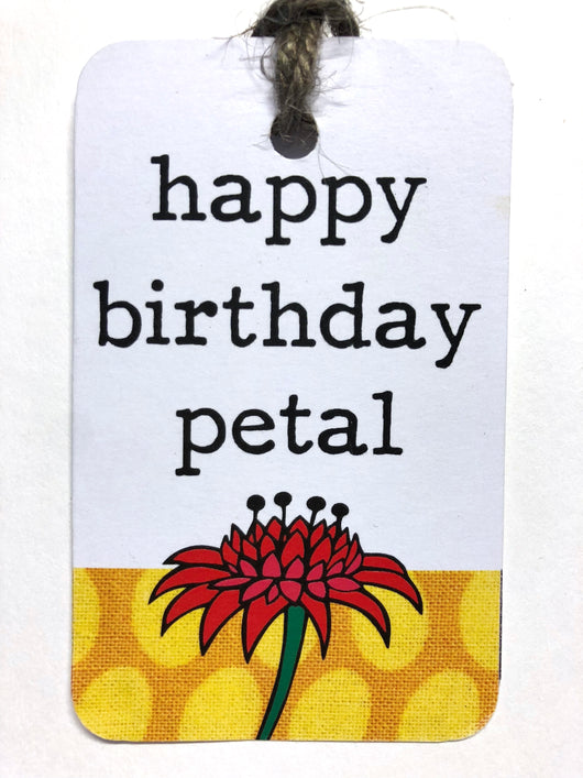 Tag - Birthday Petal Flower