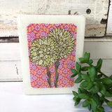 Mini Woodblock - Pink PomPom Everlasting