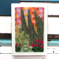 Maxi Woodblock - Hacienda Garden
