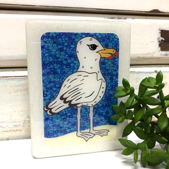 Mini Woodblock - Albatross