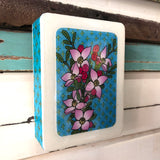 Mini Woodblock - Boronia