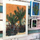 XL Woodblock - Prickle Patch