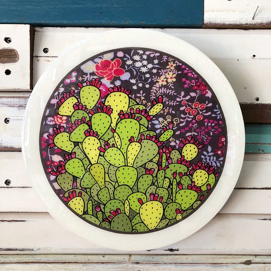 Roundy Woodblock - Prickly Pear