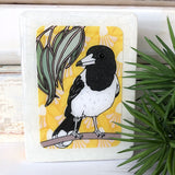 Mini Woodblock - Butcher Bird