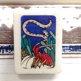 Mini Woodblock - Rock Lobster