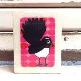 Mini Woodblock - Willy Wag Tail