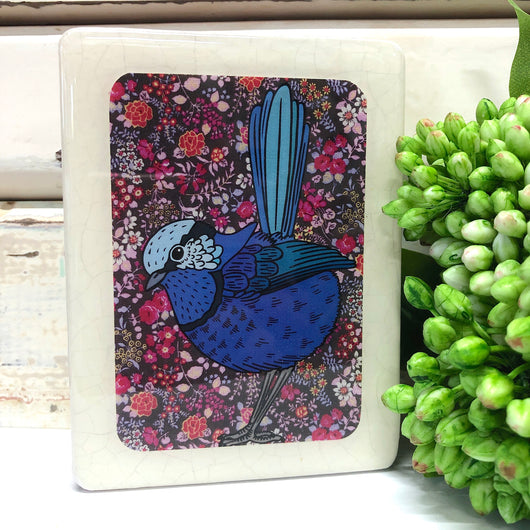 Mini Woodblock - Fairy Wren