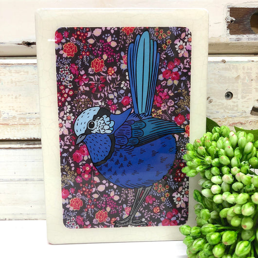Medi Woodblock - Splendid Fairy wren