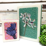 Mini Woodblock - Blue Bell Creeper