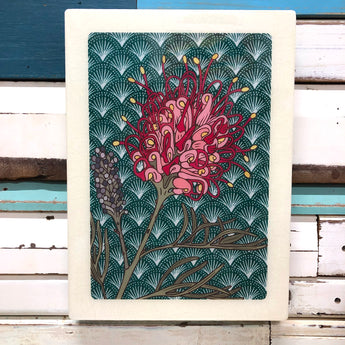 XL Woodblock - Grevillea