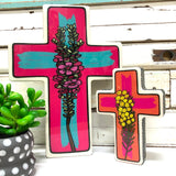 Geraldton Wax Pop Cross - Large