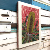 XL Woodblock - Candlestick Banksia