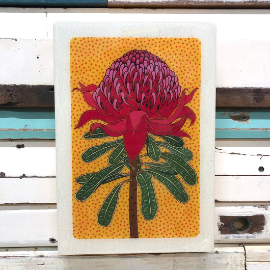 XL Woodblock - Waratah