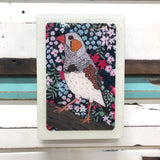 Medi Woodblock - Zebra Finch