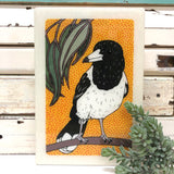 Maxi woodblock - Butcher Bird