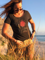Organic Cotton Tee - Sweet Grevillea