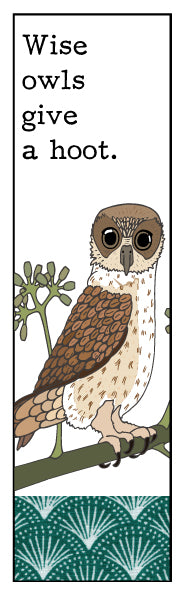 Wise Owl Bookmark