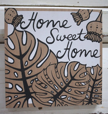 Home Sweet Home Ply Print - White