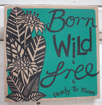 Born Wild Ply Print - Green