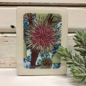 Mini Woodblock - Sea Urchin Hakea