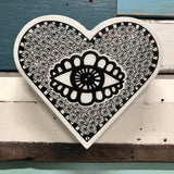 Heart Woodblock - Eye Spy
