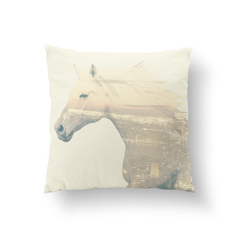 Horse double exposure, Pillow