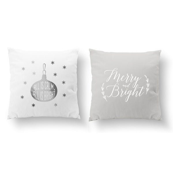 All Is Calm, Merry And Bright, Pillow