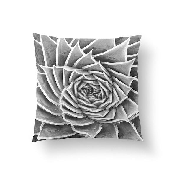 Aloes Spirala Black, Pillow
