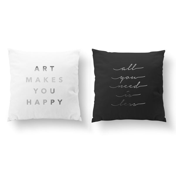 Art Makes You Happy, All You Need, Pillow