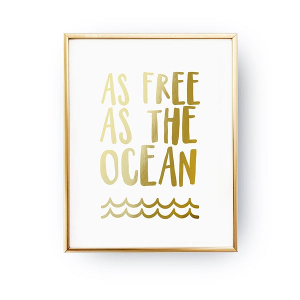 As Free As The Ocean, Poster