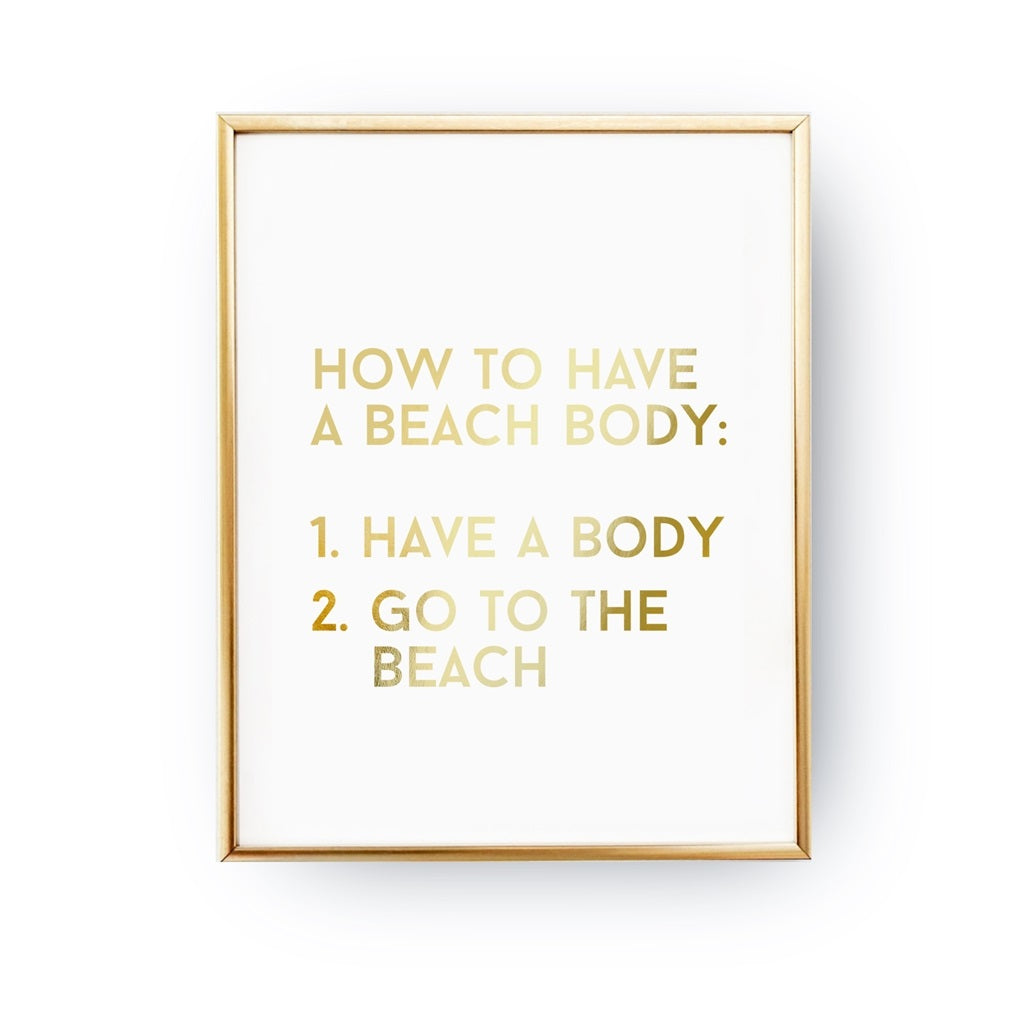How To Have A Beach Body, Poster