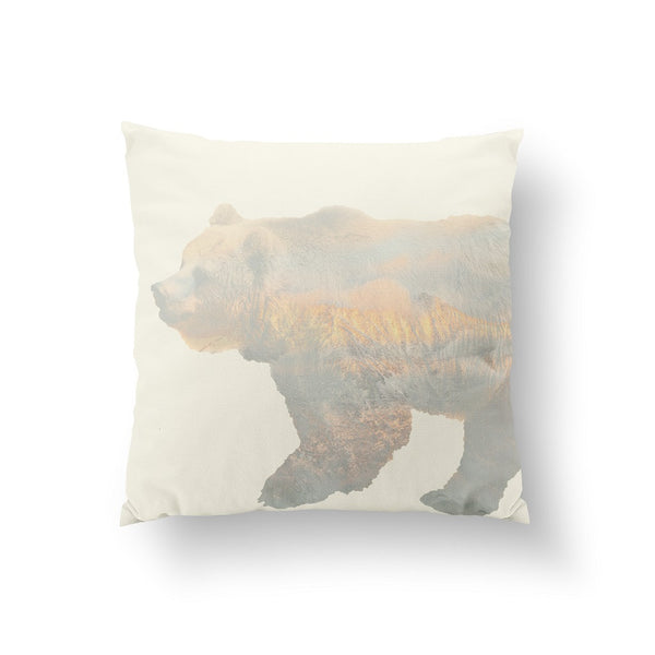 Bear double exposure, Pillow