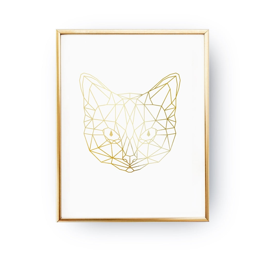 Geometric Cat Face, Poster